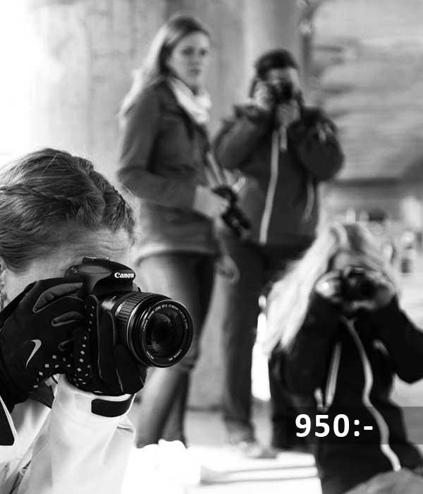 Fotokurs grundkurs steg1 med kursledare