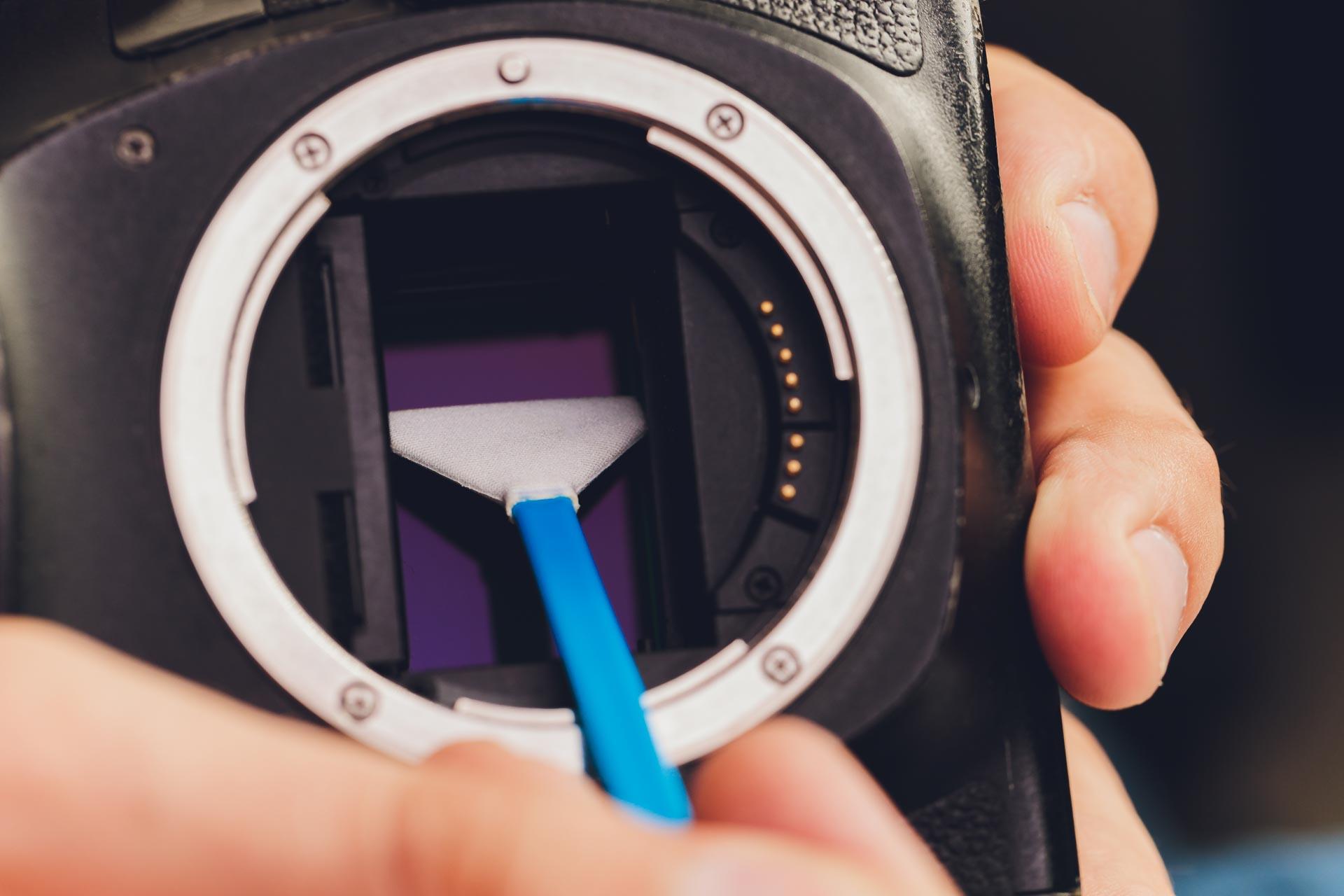 Damm på sensorn - Sensorrengöring